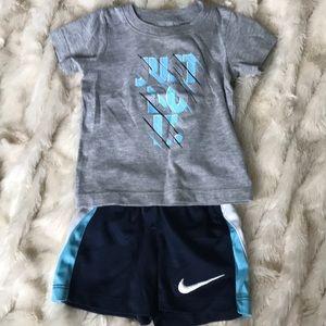 Nike matching shorts and shirt